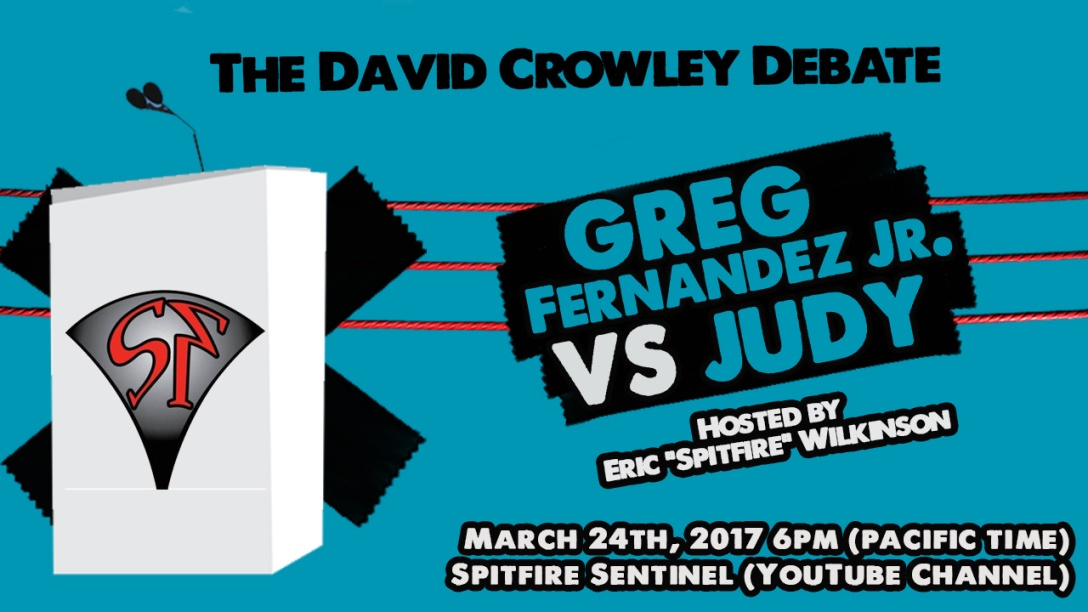 David Crowley Debate Preview – Greg Fernandez Jr vs  Judy Prochnow